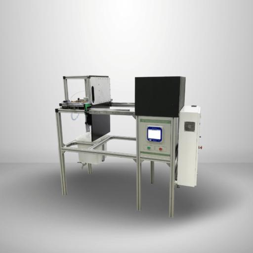 Прибор для испытания материалов и пакетов из материалов воздействию источников теплового излучения